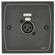 Cloud XLR-F1 Female Wall Plate in Black